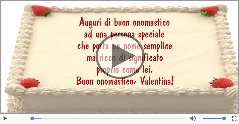 Buon Onomastico Valentina Cartoline Musicali